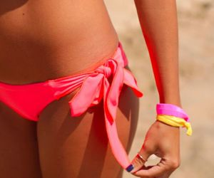 beach, pink, and sexy image