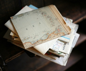 map, vintage, and photography image
