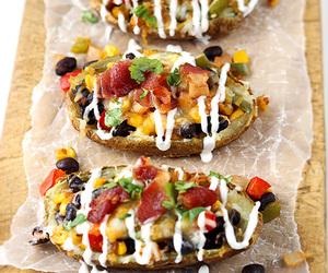 cheesy, food, and baked potato image