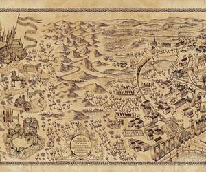 harry potter, hogwarts, and map image