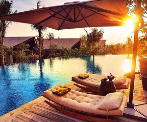 sun, vacation, and paradise image