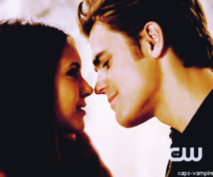 couple, nina, and the vampire diaries image