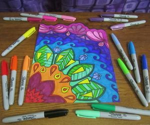 sharpies, art, and colorful image