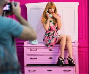 bella thorne, candy, and pink image