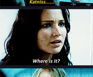 funny, katniss, and hunger games image