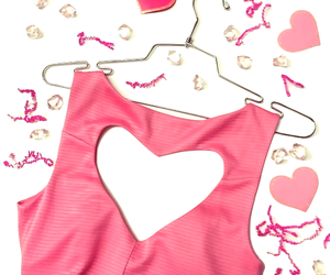 dress, heart, and pink image