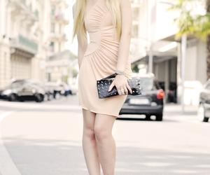 bag, dress, and girl image