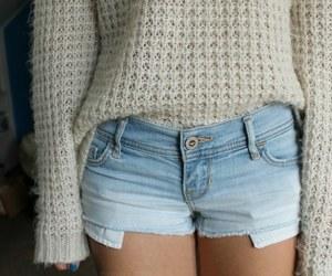 fashion, sweater, and shorts image