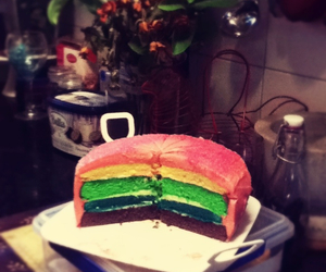 best shit ever, colourful, and rainbow cake image