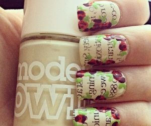 flowers, nail art, and newspaper image