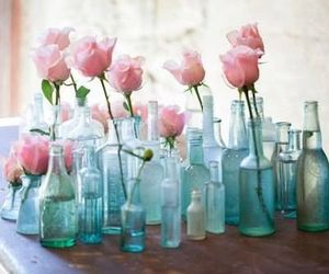 rose, flowers, and bottle image