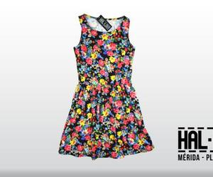 dress, fashion, and flores image