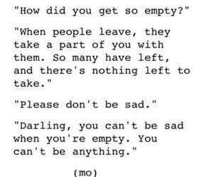quotes, empty, and sad image