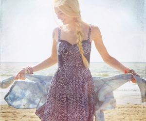 beach, blue, and dresses image