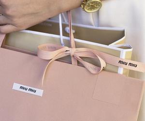 bag, miu miu, and pink image