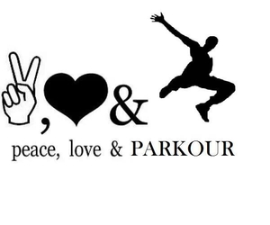 parkour, love, and peace image