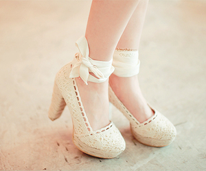 bows, crochet, and heels image