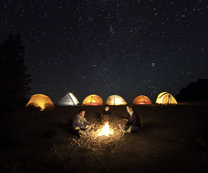 campfire, night, and friends image
