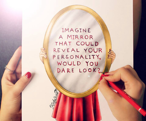 mirror, quotes, and personality image