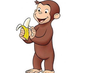 banana, curious george, and george image