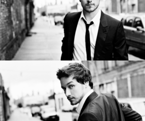 james mcavoy, black and white, and boy image