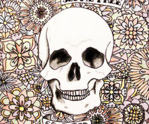 skull, flowers, and truth image