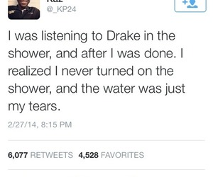 Drake, funny, and shower image