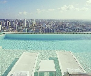 pool, city, and summer image