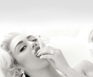 black and white, Hot, and smoking image