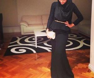 hijab and black image