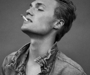 boy, cigarette, and black and white image