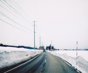 cold, road, and winter image