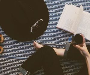 girl, book, and hipster image