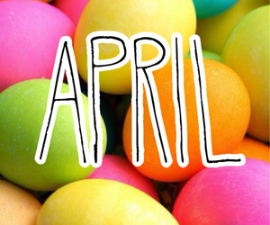 april, easter, and mes image