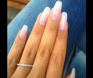 nails, french, and long image