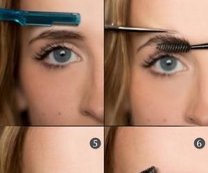 makeup, beauty, and eyebrow image