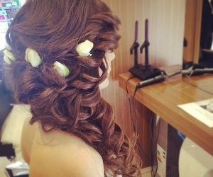 hair, perfect, and wedding image