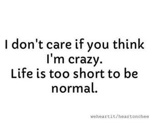 crazy, quote, and life image