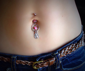 belly button piercing, fashion, and me image