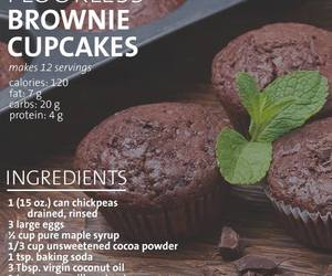brownie, brownies, and cupcakes image