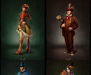 art, characters, and steampunk image