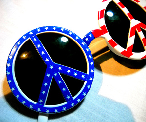 glasses, blue, and flag image