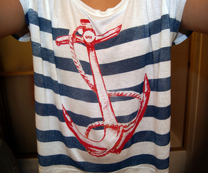 anchor, color, and girl image