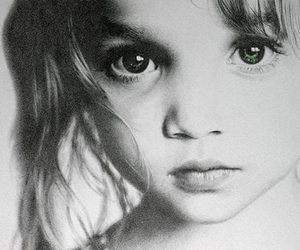 chil, draw, and eyes image
