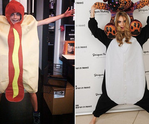 cara delevingne, funny, and hot dog image