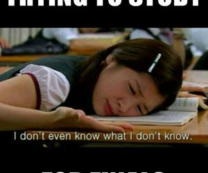 exam, lol, and finals image