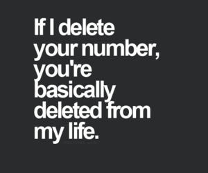 delete, life, and quote image