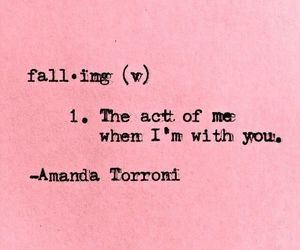 quote, falling, and pink image
