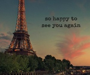 happy, paris, and eiffel tower image