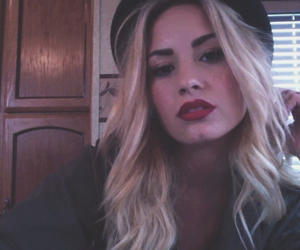 demi lovato, blonde, and girl image